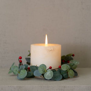 Red Berry & Eucalyptus Candle Ring