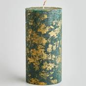 St Eval Gold Marbled Pillar Candle