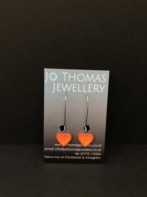 Jo Thomas Heart Drop Earrings - JWR