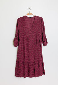 Paris Fashion Patterned Smock Tunic - Clothing