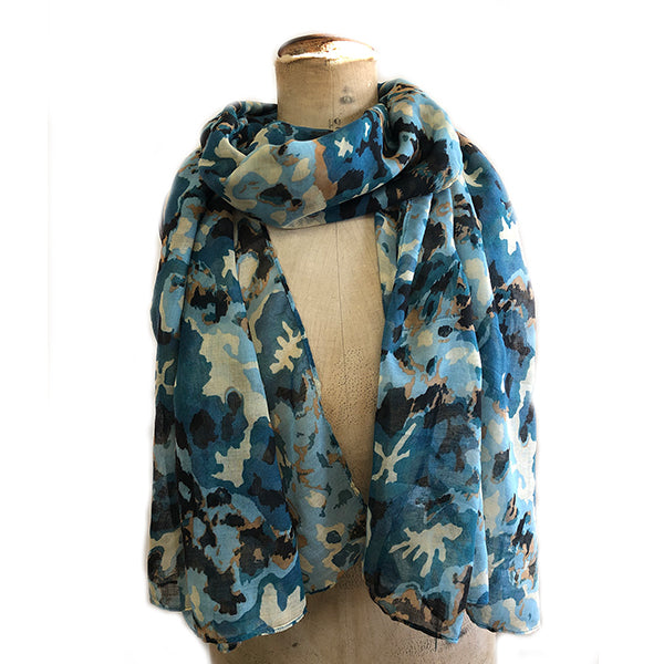 Abstract Floral Splodge Scarf