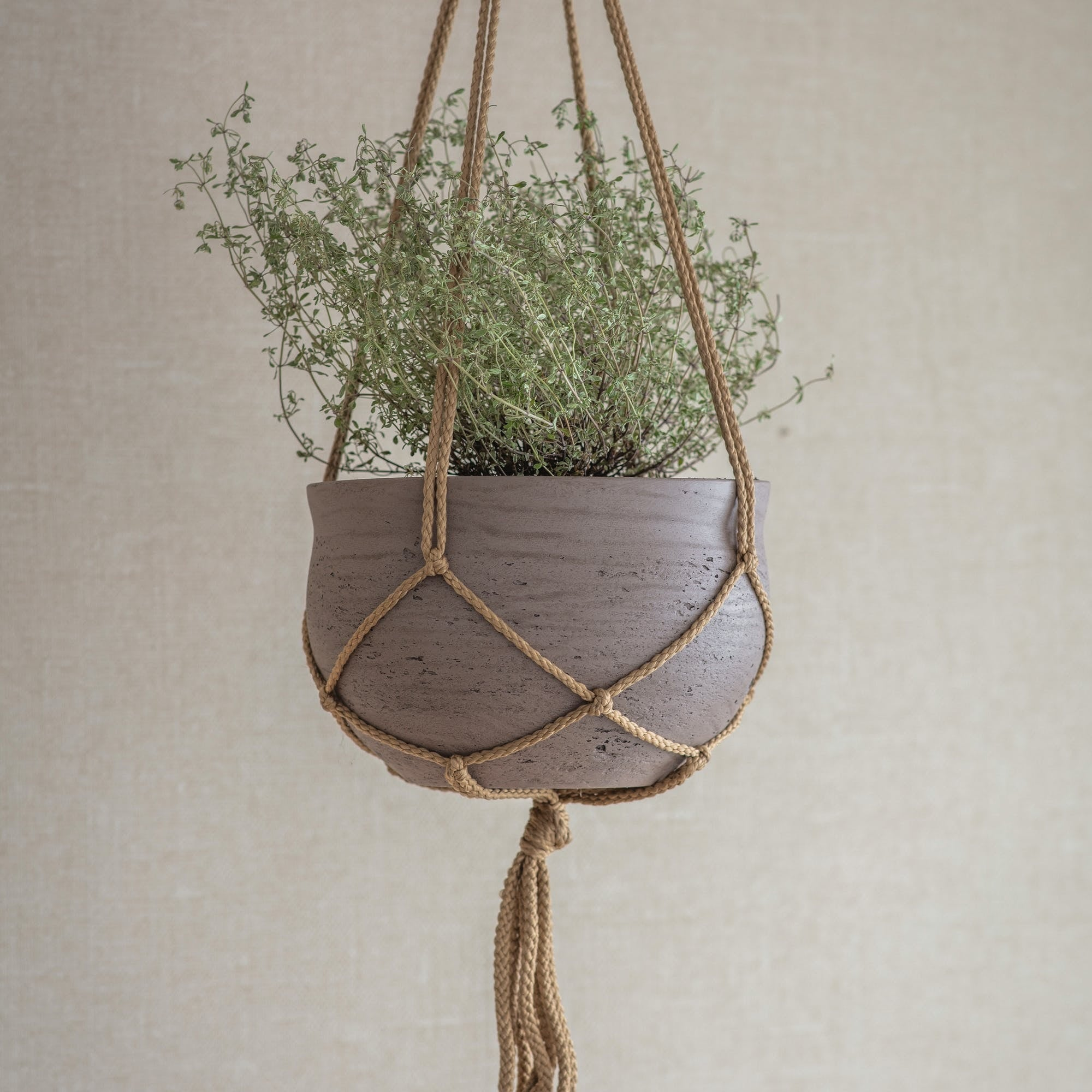 Stratton Hanging Pot Large - Cement