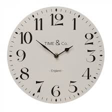 Time & Co Light Grey 29cm Clock