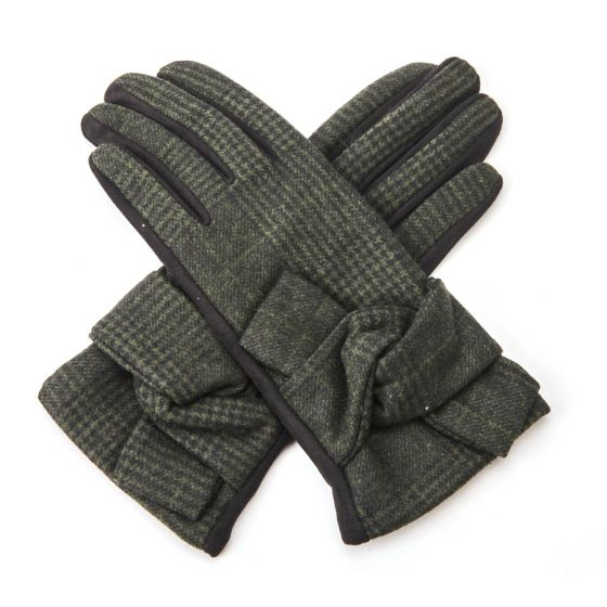 Check Knot Gloves - Accessories