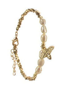 Honey Bee Charm with Pearls - JWR