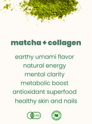 organic premium matcha with collagen peptides