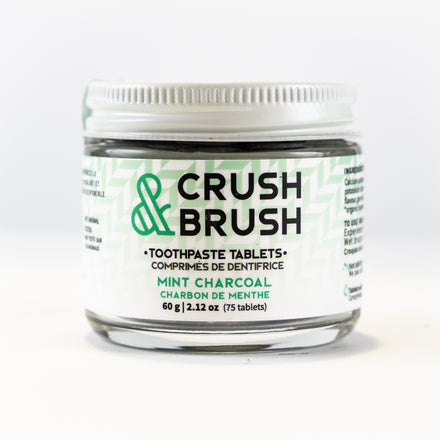 Mint Charcoal Crush and Brush