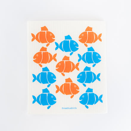 Something Fishy Swedish Dishcloth