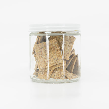 Vegan Rosemary Black Pepper Crackers