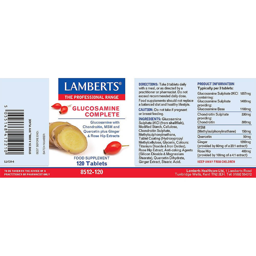 Lamberts Glucosamine Complete, Tablets, 60