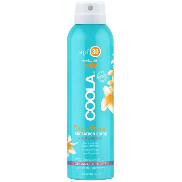 Coola Sport Continuous Spray SPF 30 Citrus Mimosa