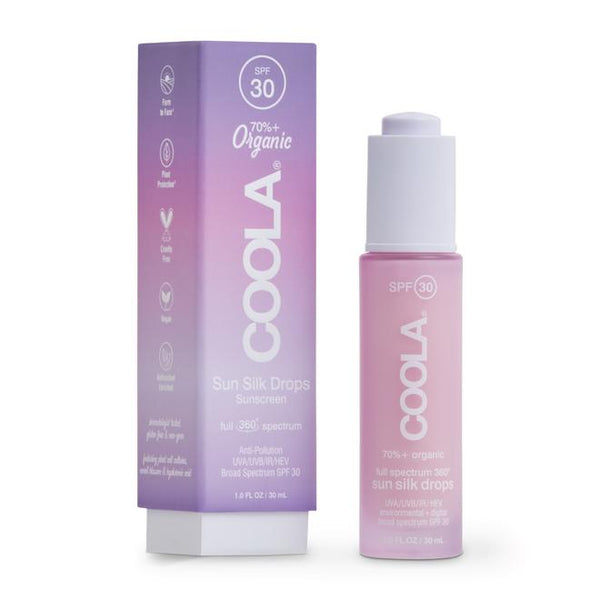 COOLA FULL SPECTRUM 360° SUN SILK DROPS ORGANIC FACE SUNSCREEN SPF 30