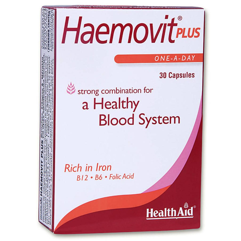 Health Aid Haemovit Plus 30caps, Caps, 30 x 1
