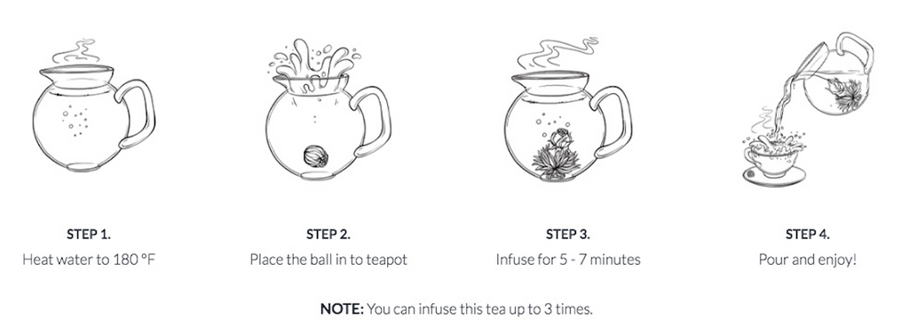 How to make a perfect cup of organic blooming tea