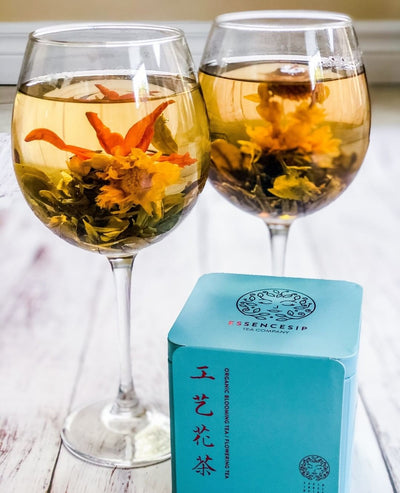 Organic Blooming Tea. Awesome Gift For a Tea Lover.