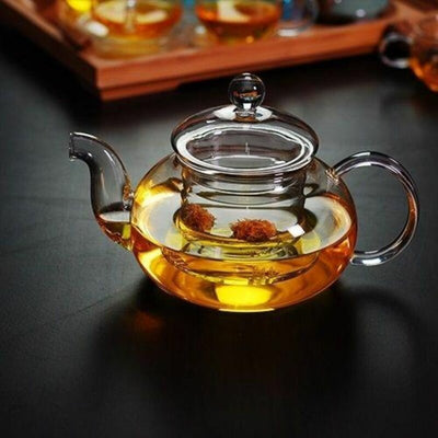 Elegant Glass Teapot Set with Cups