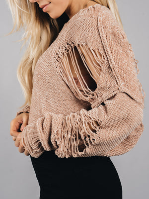 Distressed not stressed Sweater