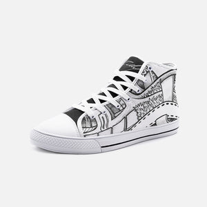 """City Park"" by Zelley – High Top Canvas (Men/Women)"