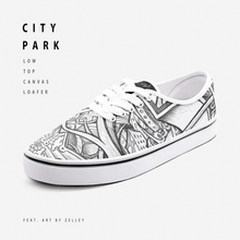 "Load image into Gallery viewer, ""City Park"" by Zelley – Low Cut Canvas Loafer (Men/Women)"