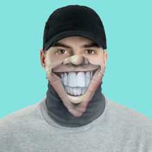 "Load image into Gallery viewer, Keep Smiling ""Clean Shave"" – Mask / Neck Gaiter"