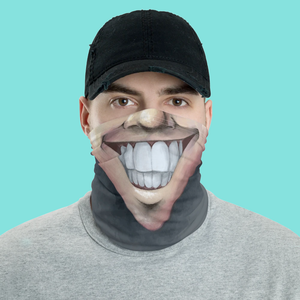 "Keep Smiling ""Clean Shave"" – Mask / Neck Gaiter"