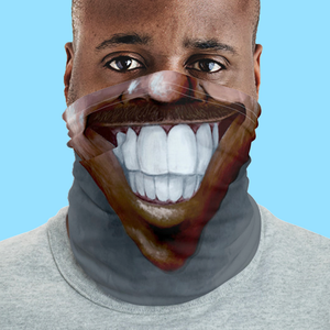 "Keep Smiling ""Stache"" – Mask / Neck Gaiter"
