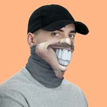 "Load image into Gallery viewer, Keep Smiling ""Stubble"" – Mask / Neck Gaiter"