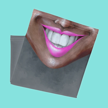 "Load image into Gallery viewer, Keep Smiling ""Fuchsia"" – Mask / Neck Gaiter"
