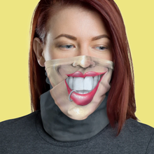 "Load image into Gallery viewer, Keep Smiling ""Lip Ring"" – Mask / Neck Gaiter"