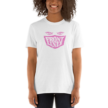 Load image into Gallery viewer, FrontLiner T-Shirt Pink Logo