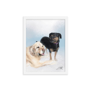 Baz and Beebee by Zelley – Framed poster