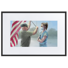 "Load image into Gallery viewer, ""Courage"" Framed Poster with Mat"