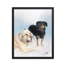 Load image into Gallery viewer, Baz and Beebee by Zelley – Framed poster