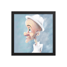 Load image into Gallery viewer, White Hat by Zelley – Framed photo paper poster