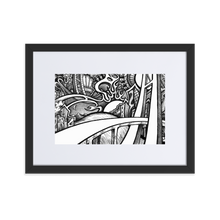 Load image into Gallery viewer, City Bridge by Zelley – Matte Paper Framed Poster With Mat