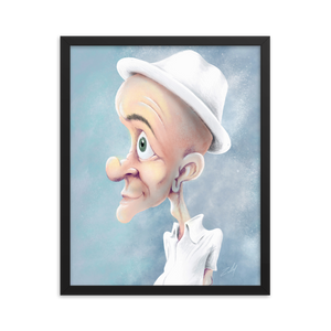 White Hat by Zelley – Framed photo paper poster