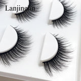 New 3 Pairs Natural False Eyelashes