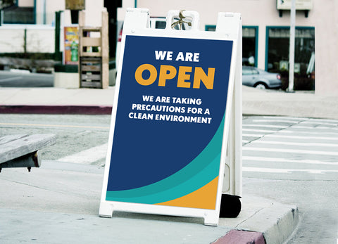 """We Are Open"" A-Frame Sign"