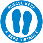 Social Distancing Floor Decal - Footprints