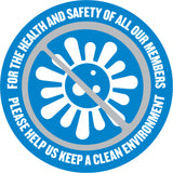 Health & Safety Window Decal - Clear