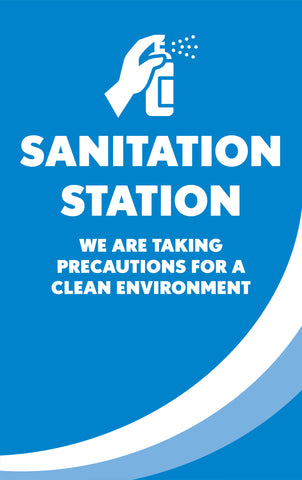 Health & Safety Sanitation Station Poster
