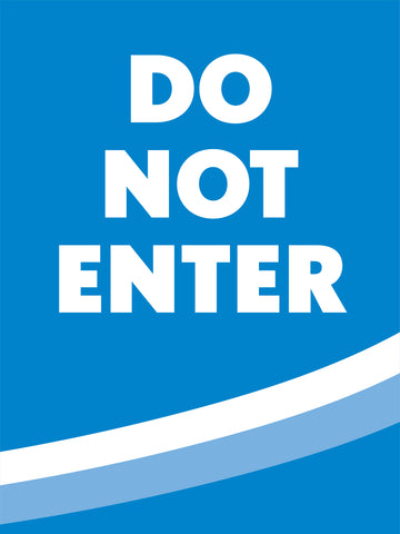 "Directional ""Do Not Enter"" Floor Decal"