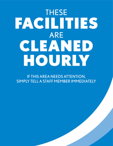 """Cleaned Hourly"" Restroom Decal"