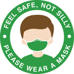"""Feel Safe"" Mask Requirement Decal"