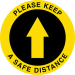Directional Arrow Social Distancing Asphalt Decals