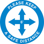 Social Distancing Directional Arrow Asphalt Decal