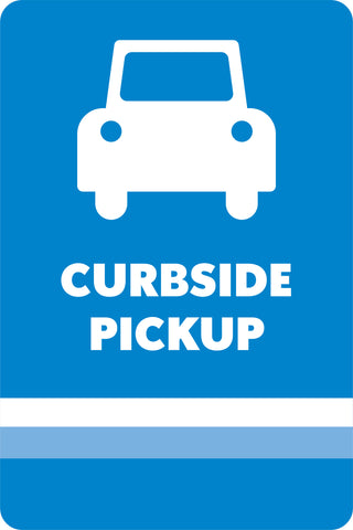 Curbside Pickup Parking Space Marker Sign