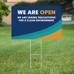 """We Are Open"" H-Stake Sign"