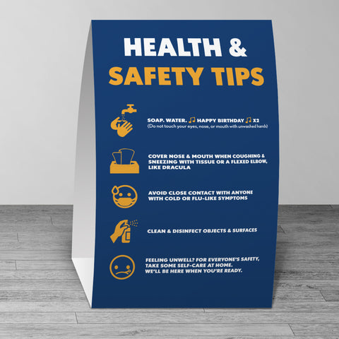 Health & Safety Tips Table Tent