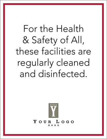 Cleaning Standards Call Out Sign - Rectangular